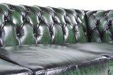 Chesterfield Original Sofá | 4 plazas | Cuero | Verde Gastado | 12 años de garantía_