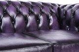 Auténtic Chesterfield Sofá | 6 plazas | Cuero | Púrpura Gastado | 12 años de garantía_