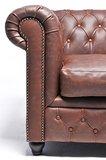 Auténtic Chesterfield Vintage Sofá   2 plazas   Marrón   12 años de garantía _