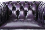 Sillón Chesterfield Original | cuero | Púrpura  gastado | 12 años de garantía_