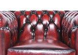 Sillón Chesterfield Original | cuero |Rojo gastado | 12 años de garantía_