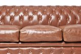 Auténtic Chesterfield Sofá | 6 plazas | Cuero | Moca Vintage | 12 años de garantía_