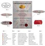 Auténtic Chesterfield Vintage Sofá  5 plazas   Cuero   Moca   12 años de garantía_