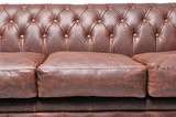Auténtic Chesterfield Vintage Sofá | 6 plazas | Cuero | Marrón | 12 años de garantía_