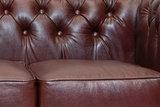 Chesterfield Sofá First Class | 2-plazas | Cuero | Blanco | 5 años de garantía_