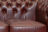 Chesterfield Sofá Class | 2-plazas | Cuero | Cloudy Rojo | 5 años de garantía_
