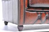 Chesterfield Sofá Original Cuero |1 + 2 plazas | Marrón Gastado | 12 años de garantía_