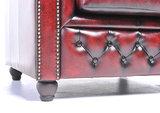 Chesterfield Sofá Original Cuero  1 + 2 plazas   Rojo Gastado   12 años de garantía_