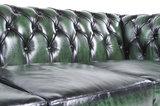 Chesterfield Sofá Original Cuero |1 + 2 plazas | Verde Gastado | 12 años de garantía_