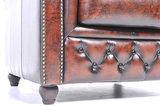 Chesterfield Sofá Original Cuero |2 + 3 plazas | Marrón Gastado | 12 años de garantía_