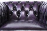 Chesterfield Sofá Original Cuero |1 + 1 + 3 plazas | Púrpura Gastado | 12 años de garantía_