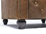 Chesterfield Sofá Vintage Cuero  1 + 2 plazas   Alabama C1059   12 años de garantía_