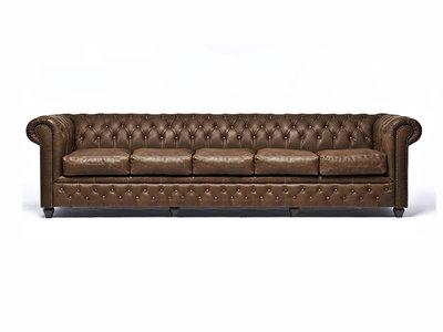Chesterfield Sofá Vintage C0869 | 5 plazas | 12 años de garantía
